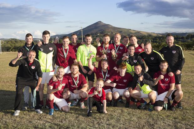 Ardmore Rovers, winners of the Gaelic Plant Hire Cup after victory over Enniskerry.
