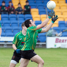 Hollywood's Mikey Healy gathers possession during the SFC clash with Bray Emmets