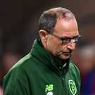Republic of Ireland manager Martin O'Neill (right), and Wales manager Ryan Giggs during the UEFA Nations League match at the Cardiff City Stadium
