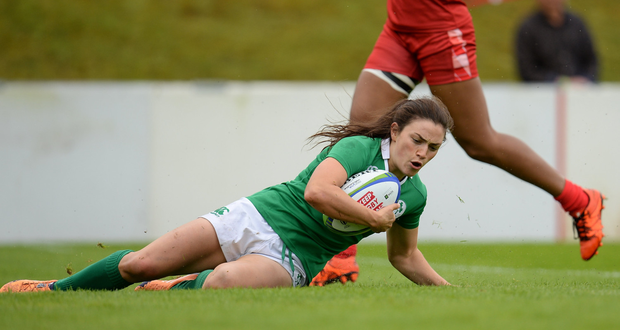 Lucy Mulhall, who captained the Ireland Sevens to a World Series semi-final for the first time