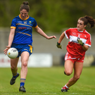 Wicklow's Jackie Kinch (in action here against Louth last year) bagged 1-4 against Offaly on Sunday