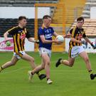 Wicklow's Matthew Ging rampages towards the Kilkenny goal