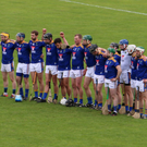 The Wicklow players stand for Amhrán na bhFiann