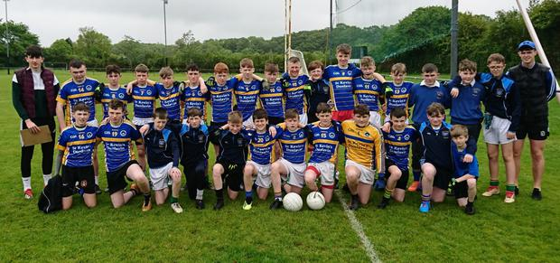 The St Kevin's CC Dunlavin first year side who defeated Ballymahon Secondary Schools in the Leinster 'C' football final in Tullamore