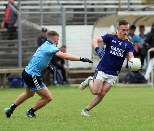 Wicklow's Shane Daly prepares to launch another attack on the Dublin goal in Aughrim
