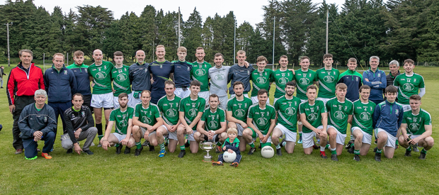 The Avondale footballers after they were presented with the SFL Division 1A cup