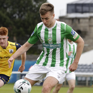 Bray's Joe Doyle gets this ball under control at the Carlisle