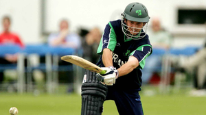 Ed Joyce bats for Ireland during the ICC Trophy game between Ireland and Bermuda in Stormont, Belfast, in 2005. Picture: Oliver McVeigh / SPORTSFILE