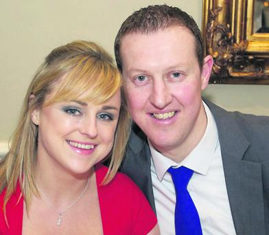 Tara and Darragh McEvoy at the St. Patrick's GAA Dinner Dance in the Grand Hotel