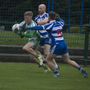 Action from the Dunne Cup semi-final between Blessington and Baltinglass