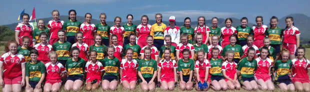 The Tinahely girls travelled to Cooley Kickhams in County Louth