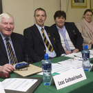ce-Chairman Mick Hagan, Chairman Martin Fitzgerald, county secretary Chris O'Connor, C.C.C. Chairperson (fixtures) Bridget Kenny and Central Council rep Martin Coleman at the Wicklow GAA Convention