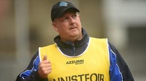 New Wicklow camogie manager Seán Fleming on the sideline in Croke Park in 2015 as his Waterford side beat Kildare in the All-Ireland Intermediate camogie championship final. Photo: Sportsfile