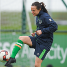Aine O'Gorman of the Republic of Ireland during squad training at the FAI National Training Centre in Abbotstown, Dublin