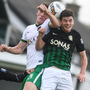 Ryan Delaney of Cork City in action against Darragh Noone of Bray Wanderers