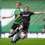 Edel Kennedy of Wexford Youths is tracked by Karen Duggan of Peamount United during the Continental Tyres FAI Women's Senior Cup final in the Aviva Stadium on Sunday. Photo by Eoin Noonan/Sportsfile