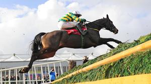 Chancol jumps the last with Paul Carberry
