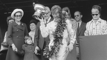 """'On the podium, Jochen Rindt wept as he accepted the trophy from Princess Grace after what race engineer Herbie Blash called """"the race of his life.""""' Photo: Victor Blackman/Getty Images"""
