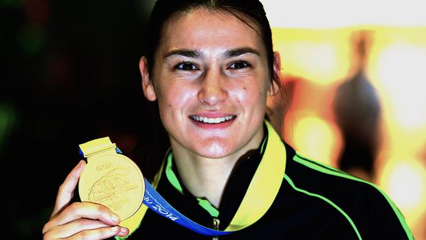 Ireland's Katie Taylor, pictured, and Michael O'Reilly won boxing gold medals at the European Games in Baku
