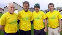 The late, great Jerry Kiernan (second from left) pictured on a visit to Kerry with (l-r) Jimmy Deenihan, Gordon Flannery and Billy Keane