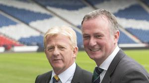 Michael O'Neill, right, believes Hampden is an ideal testing ground