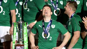 Brian O'Driscoll, pictured left, has been integral to Ireland's search for his successor, according to Joe Schmidt