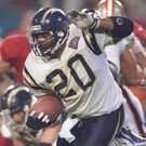 Natrone Means of the San Diego Chargers during Super Bowl XXIX. Photo: Getty Images
