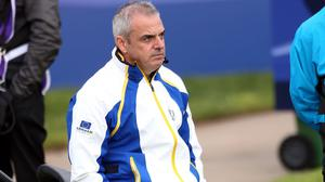 European Ryder Cup captain Paul McGinley wants his players to take on the role of gladiators walking on to the first tee
