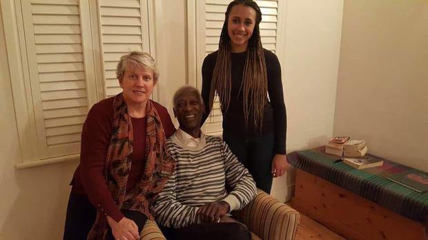 Nadia Power with her parents Sheila Power and Dr Abdullahi El-Tom