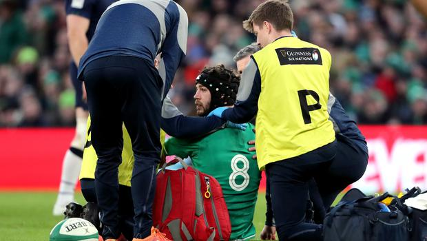 Farrell had a positive update about number eight Caelan Doris (Niall Carson/PA)