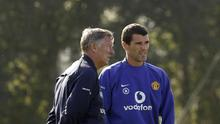 Sir Alex Ferguson, left, and Roy Keane, right, have been urged to make the peace