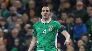 Republic of Ireland defender John O'Shea, pictured, escaped serious injury in a tackle by Gareth Bale