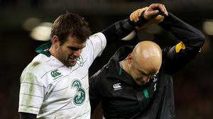 Ireland's Jared Payne, left, could miss the match against Georgia
