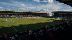 The Twickenham Stoop, home of Harlequins, will host the first game when the Premiership resumes in August (Ashley Western/PA).