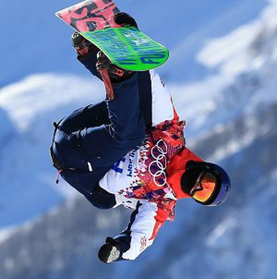 Great Britain's Billy Morgan during snowboard slopestyle practice in Sochi, on a course which Great Britain snowboard coach head coach Hamish McKnight says is 'workable' despite some safety concerns.