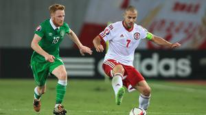 Stephen Quinn, left, has warned the Republic of Ireland that Robert Lewandowski is not Poland's only dangerman