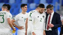 Republic of Ireland manager Stephen Kenny was forced into a late reshuffle in Bratislava (Martin Baumann/PA)