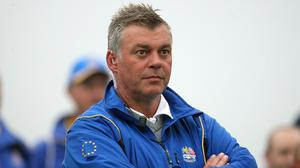 Rory McIlroy reckons Darren Clarke, pictured, would be a great choice to captain the 2016 Europe Ryder Cup team