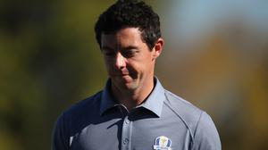Rory McIlroy quickly lost his overnight advantage on day three of the WGC-Mexico Championship