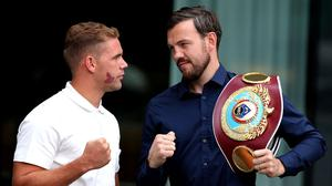 A cut to Billy Joe Saunders, left, has again postponed his fight with Andy Lee