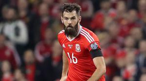Joe Ledley, pictured, has denied accusations he laughed at Seamus Coleman's horror injury