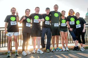 Setting a good example: Minister for Health Leo Varadkar with his Healthy Ireland Team Mates