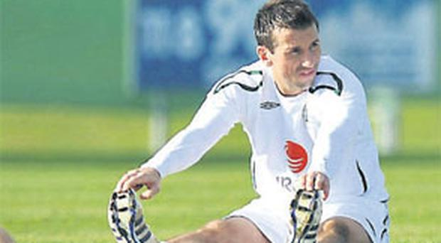 Liam Miller during his time with the Republic of Ireland