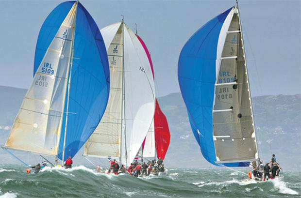 Action from a previous staging of the Dun Laoghaire Regatta