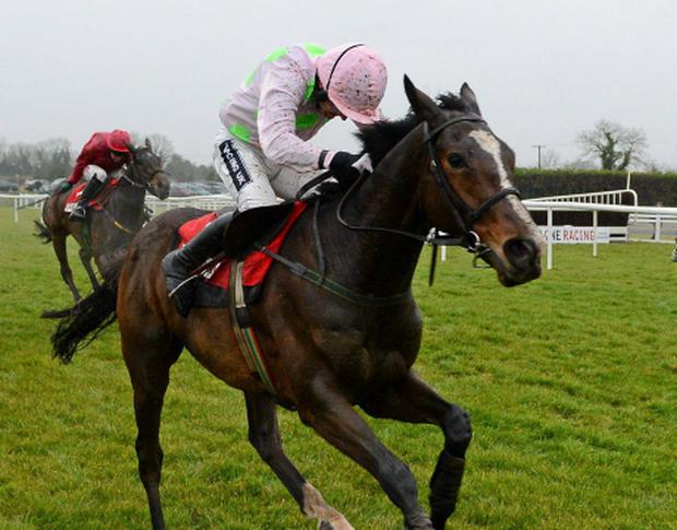 2 December 2012; Zaidpour, with Ruby Walsh up, on their way to winning the Bar One Racing Hatton's Grace Hurdle from second place Monksland, with Paul Carberry up, and third place Voler La Vedette, with Andrew Lynch up. Fairyhouse Racecourse, Co. Meath. Picture credit: Matt Browne / SPORTSFILE