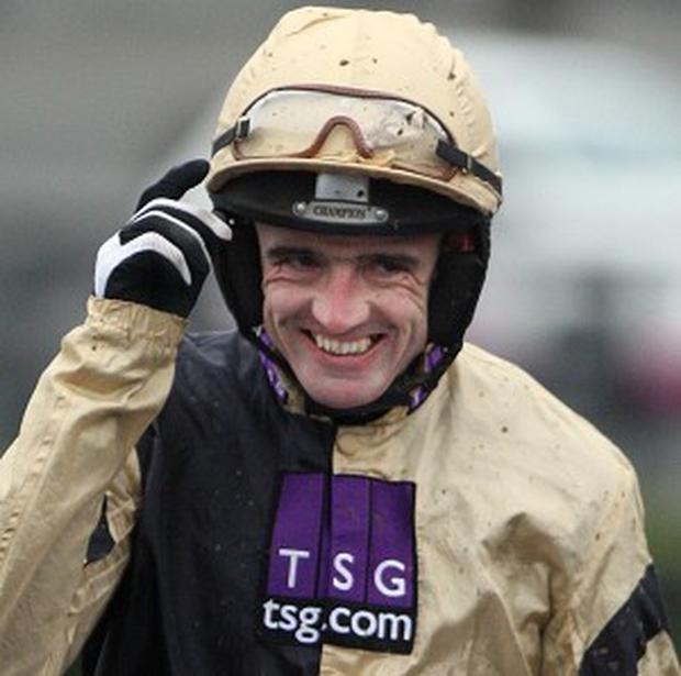 Ruby Walsh landed the Moscow Flyer Novice Hurdle on Mozoltov