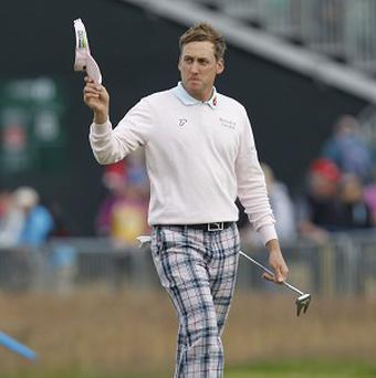 Ian Poulter, pictured, set up a clash with Hunter Mahan in the semi-finals