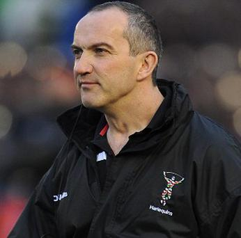 Conor O'Shea is contracted to Harlequins until the end of the 2013-14 season