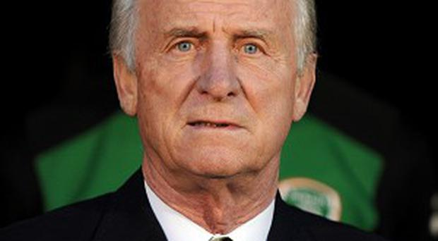 Giovanni Trapattoni's Ireland take on Georgia in a friendly match in June
