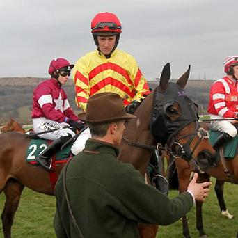 JT McNamara, centre, was put into an induced coma after a fall. Photo: PA